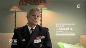 Le vice-amiral Arnaud Coustillière dans Cash investigation.